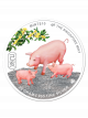 The Singapore Mint Lunar Boar 20gm 999 Fine Silver Proof Colour Medallion