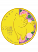 2019 Macau Pig 1/4oz 999.9 Fine Gold Proof Colour Coin