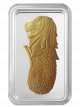 PAMP Golden Merlion 1 oz 999 Fine Silver Proof-Like Ingot with Gold-Plating