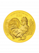 2017 Singapore Lunar Rooster 1/4 troy oz 999.9 Fine Gold Proof Coin