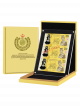 Brunei Sultan Golden Jubilee Accession to Throne 3-in-1 Numismatic Uncut BND50 Sheet