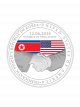 [1st Issue] United States - North Korea Summit 2018 1 oz 999 Fine Silver Proof Medallion