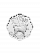 China Dog Blossom-Shaped 30gm 999 Fine Silver Proof Coin