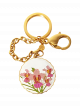 Vanda Miss Joaquim Keychain - Gold-plated with White Enamel
