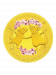 The Singapore Mint Lunar Rat 1/4 oz 999.9 Fine Gold Proof Colour Medallion