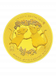 The Singapore Mint Lunar Rat 1/10 oz 999.9 Fine Gold Proof Medallion