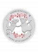 The Singapore Mint Lunar Rat 20 gram 999 Fine Silver Proof Colour Medallion