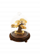 Golden Bonsai in Glass Dome