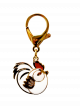 Gold Plated Rooster Lunar Charm