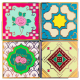 4In1 Peranakan Tile Badge (Set)