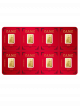 PAMP Lunar Dog 8x1gm 999.9 Fine Gold Multigram Set