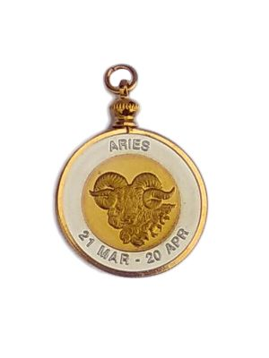 Horoscope Pendant - Aries (Bi-Metal)