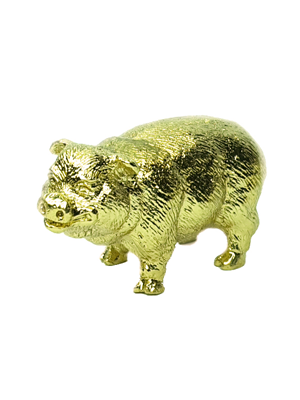 24K Gold Plated Animal Figurine - Boar