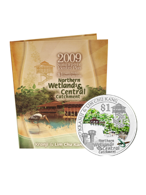 2009 Kranji & Lim Chu Kang $1 Cupro-Nickel Proof-Like Colour Coin
