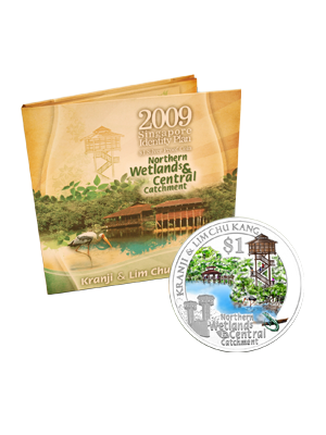 2009 Kranji & Lim Chu Kang $1 Silver Proof Colour Coin