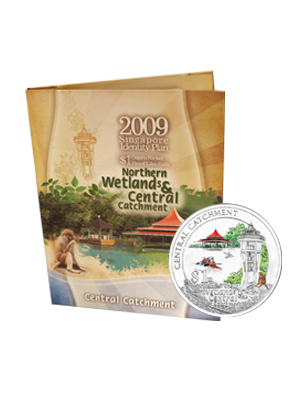 2009 Central Catchment $1 Cupro-Nickel Proof-Like Colour Coin