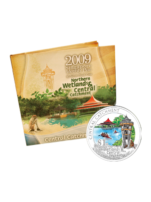 2009 Central Catchment $1 Silver Proof Colour Coin