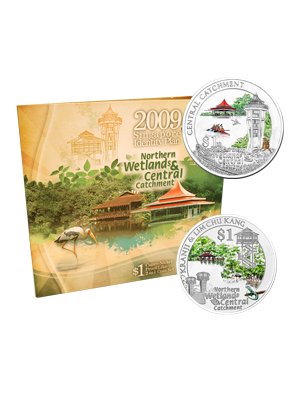 2009 Northern Wetlands & Central Catchment 2-In-1 Cupro-Nickel Proof-Like Colour Coin Set