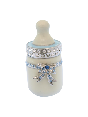 Baby Milk Bottle Figurine (Blue)