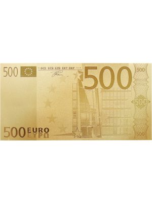 Euro500 Embossed Gold Foil Banknote