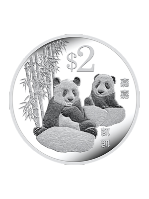2012 Giant Panda $2 Cupro-Nickel Proof-Like Coin