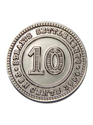 10-Cents Straits Settlement Coin Pin