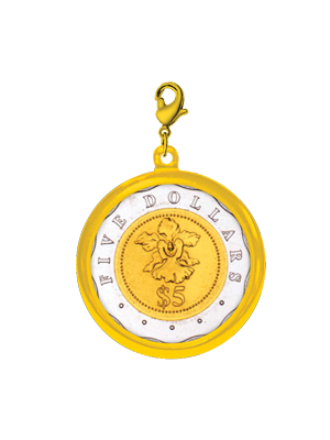 $5 Coin 24K Gold-Plated Pendant