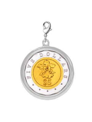$5 Coin Chrome-Plated Pendant
