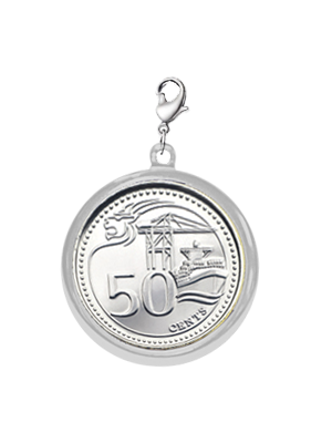 TS 50-cent Coin Chrome-plated Pendant