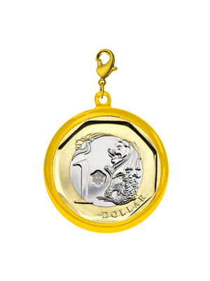 TS $1 Coin Gold-plated Pendant