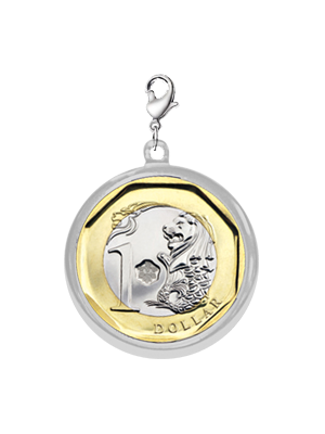 TS $1 Coin Chrome-plated Pendant