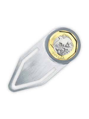 $1 Coin Bookmark (Stainless Steel)