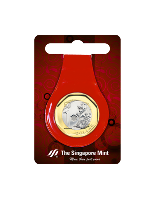 $1 Coin Multi-Purpose Money Clip (Red)
