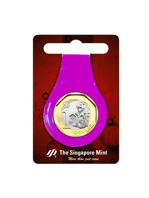 $1 Coin Multi-Purpose Money Clip (Purple)