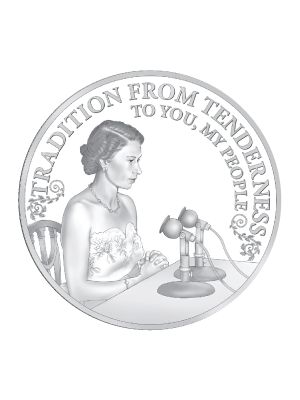 Princess To Monarch - Broadcasts Monarch 925 Silver Proof Coin