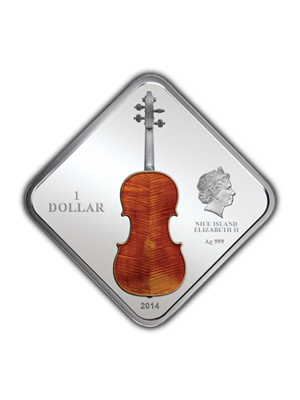 Art Of Violin Stradivarius 1 oz 999 Fine Silver Coin