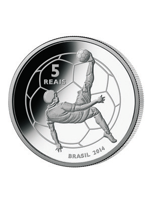 2014 FIFA World Cup Host Country Brazil Mascot Coin 925 Silver Proof Coin