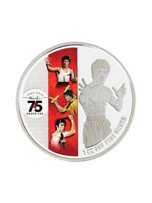 Legend Of JKD 1 oz 999 Fine Silver Proof Colour Coin