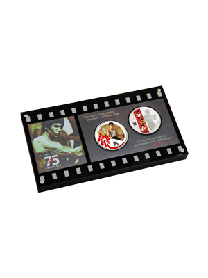 Bruce Lee 75th Anniversary 2 in 1 Coin Set