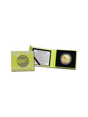 Singapore Botanic Gardens 25 gm 24K Gold-Plated Medallion