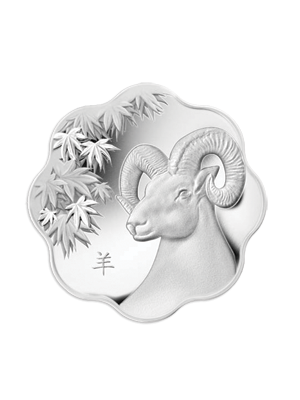 Canada Year Of The Goat 999 Fine Silver Proof Scallop-Shaped Coin