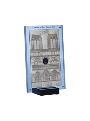 Lights On! Paris Notre-Dame Cathedral 1Kg 999 Fine Silver 15-In-1 Coin Set