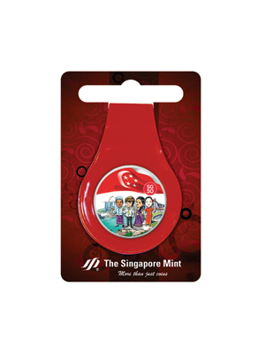 SG50 Multi-Purpose Money Clip (Red)