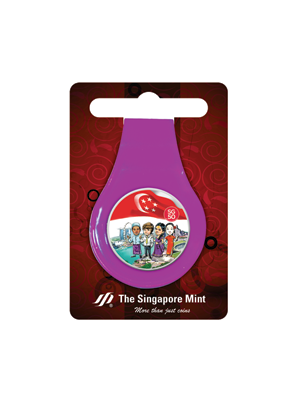 SG50 Multi-Purpose Money Clip (Purple)
