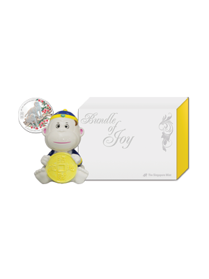 Joyous Monkey Set - Blue