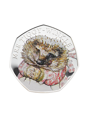 150th Anniversary Of Beatrix Potter - Mrs Tiggy-Winkle 925 Fine Silver Proof Colour Coin