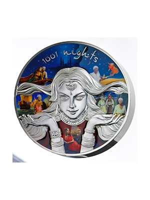 1,001 Nights 999 Fine Silver Proof-like Coin with Enamel