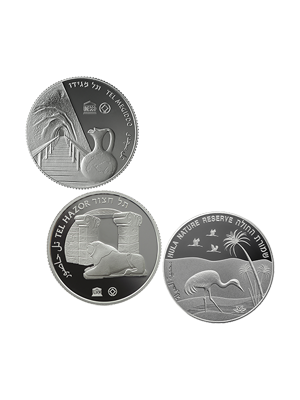 UNESCO Views Of Israel 3-In-1 Fine Silver Proof Coin Set