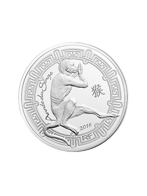 France Year Of The Monkey 900 Fine Silver Proof Coin