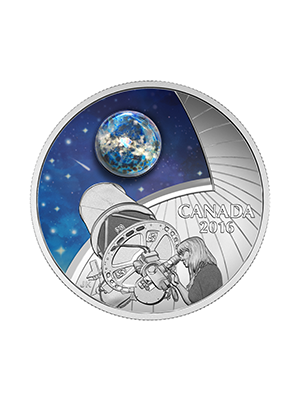 Burke-Gaffney Observatory 999 Fine Silver Proof Colour Coin With Boro Glass Insert